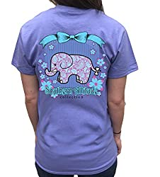 Southern Attitude Elephant Violet Short Sleeve T-Shirt