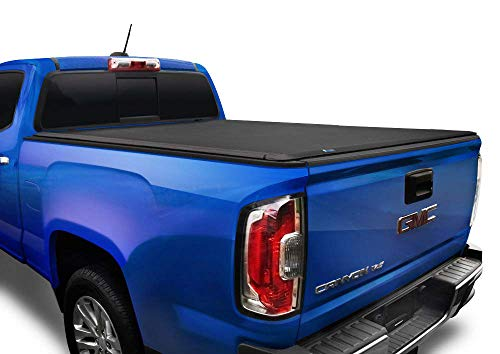 Tyger Auto T1 Soft Roll Up Truck Bed Tonneau Cover for 2015-2018 Chevy Colorado / GMC Canyon Fleetside 5'2' Bed TG-BC1C9012, Black