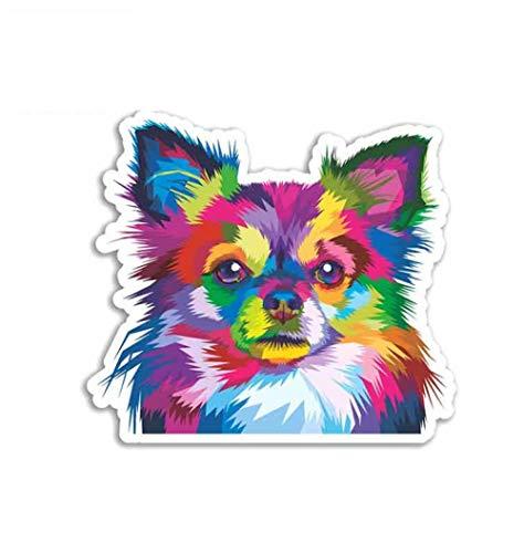 Autoaufkleber Chihuahua H& Personalisiert von Fahrzeug stilvolle Motorrad Vinyl Aufkleber für Autos 13cm x 11.8cm 2 Stück