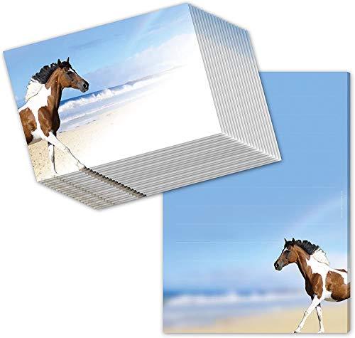 """Pferde-Schreibblock/Briefblock\""""PAINTHORSE\"""" DIN A5 (liniert 50 Blatt) inklusive 20 passenden Umschlägen/Briefpapier Pferd/Briefpapier für Mädchen - ideal als Geschenk zur Einschulung"""