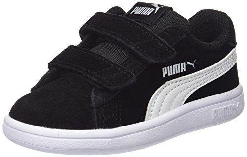 Puma - Smash V2 Sd V Inf, Zapatillas Unisex Niños, Negro (Puma Black-Puma White 01), 27 EU