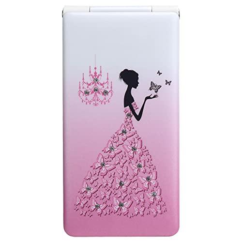 Vbestlife1 Mini teléfono móvil con Tapa de 2,4 Pulgadas, teléfono móvil ultradelgado, 32 MB + 32 MB, teléfono móvil 2G, Compatible con Bluetooth, localizador de Llamadas, fácil de Usar(Rosa)