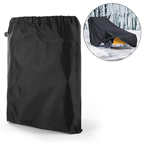JUHUIZHE Schneepflügel-Abdeckung, strapazierfähige Polyesterfaser, wasserfest, UV-Schutz, universell für die meisten elektrischen Schneefräsen