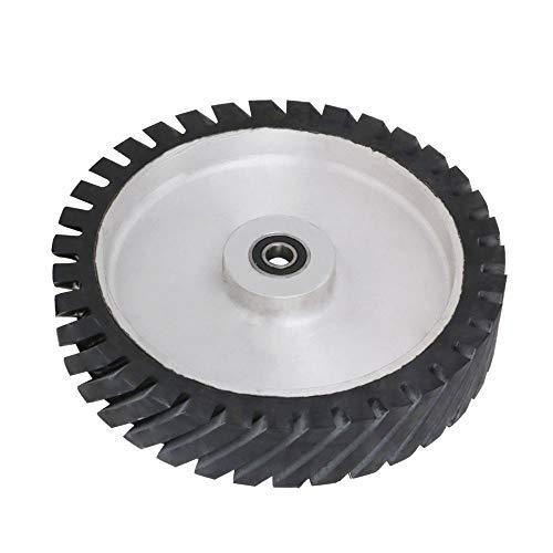 30,5 cm Gurtschleifer Gummirad YKLP gezahnte Gummi-Kontaktscheibe für Riemenmaschine Poliermaschine (Lager 15 mm)