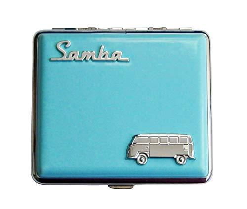 ZIGARETTENETUI Samba VW Bulli Leder Zigaretten Etui Zigarettenbox Zigarettendose Box Dose Case 4-Varianten 68 (Türkis)