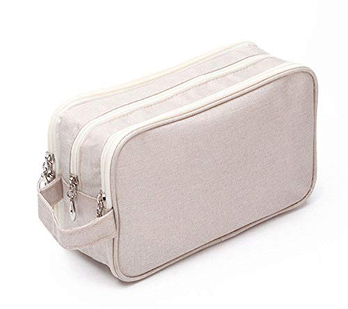 Compression Packing Cubes Bags,2020 new canvas double-layer storage bag-Beige,Packing Cubes Suitcase Organiser Packing Bags