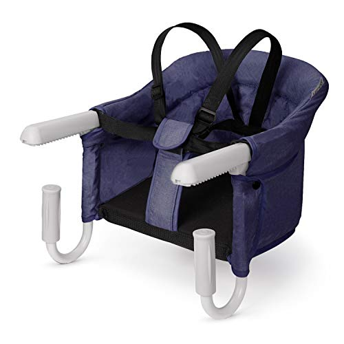 VEEYOO Hook On High Chair - Compact Fold Clip On High Chair for Baby Toddler, Portable Baby High Chairs for Travel or Restaurants (Navy)