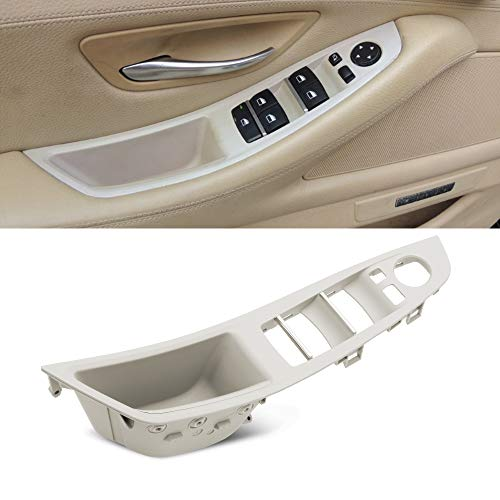RDBS Driver Side Door Handle Gray Window Switch Armrest Panel Inner Pull Handle Trim Panel Cover Fits for 2010-2016 BMW 5 Series 520 523 525 528 530 535 F10 F11