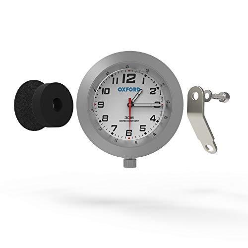Oxford OX560 Motorrad Analog Uhr Silber