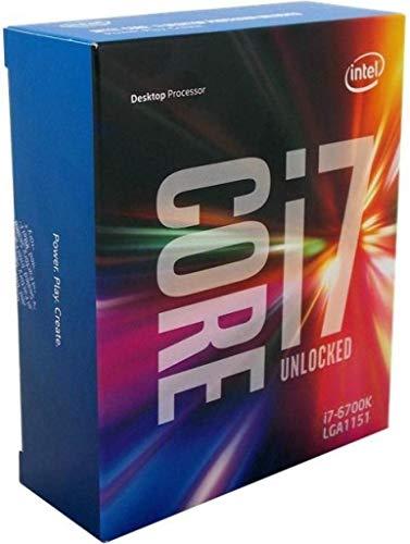 Procesador Intel Core i7 6700K (4 GHz, 4 núcleos, 8 hilos, caché de 8 MB, caja de zócalos LGA1151) (reacondicionado)