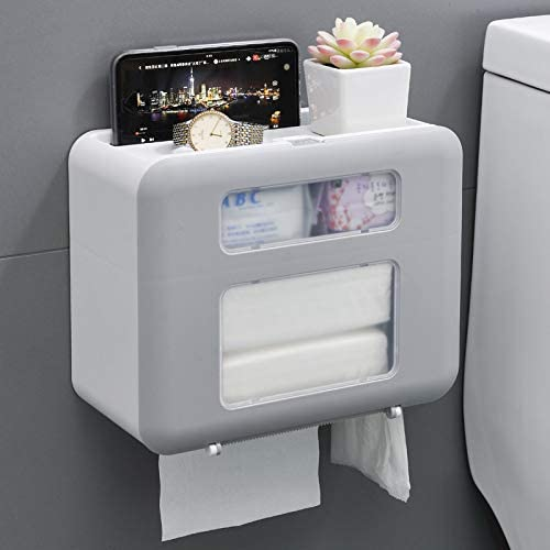 Max 67% OFF FASHAJI Toilet Paper Holder with Wall Mounted Finally popular brand Phone Shelf