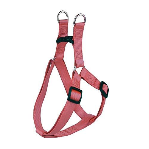 WTBH D - Arnés de nailon para perro sin tirar, ajustable, correa clásica para correr para perros pequeños y medianos (color: rojo marrón, tamaño: XS)