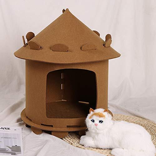 Yurt kattenbakvulling Hot Pet Nest Tent Style Dog Kennel Cat Delivery Room Dog House Bed