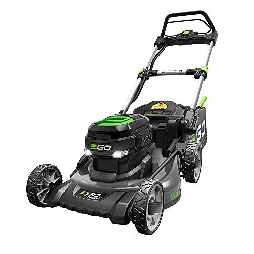 EGO Power+ LM2021 20-Inch 56-Volt Lithium-ion Cordless Battery Walk Behind Push Lawn Mower with Steel Deck - 5.0 Ah Battery and Charger Included