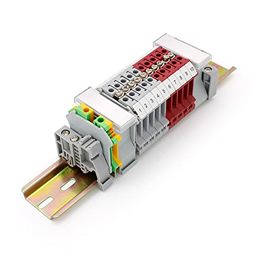 SRJQXH Bloque de Terminales de Carril DIN, UK/ 5N Bloques de Conectores...