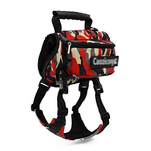 QSMY Pet Carrier Bag Poliestere Capsula Spaziale Trasparenti Zaino for Cani e Cuccioli for Viaggi Walking & Outdoor Use (Color : Red-Camouflage)
