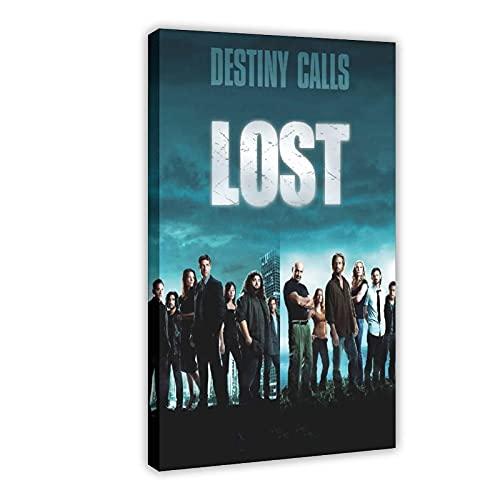 Poster su tela, serie TV drammatica Lost Season 5 (2), decorazione da parete per soggiorno, camera da letto, 40 x 60 cm, cornice: 1