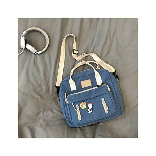 Ys-s Personnalisation de la Boutique Joli Sac à Dos Multifonctionnel Adolescent Girl Portable Sac de Voyage Femme Fille Basse Sac à Dos (Color : Blue, Size : Only Backpack)