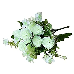 Everlasting Carnation Artificial Flowers Fake Plants Garden DIY Party Wedding Arch Festival Decor White