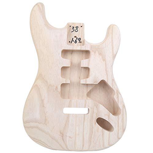 Gitarrenkörper, Holz Esche DIY Halbzeug Gitarrenkörper für DIY E-Gitarre Ersatz(Braun)