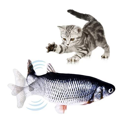 Sunshine smile Pesce Elettrico per Gatto,Catnip Giocattoli per Gatti,Giochi Gatto Pesce Che Si Muove, Pesce Giocattolo per Masticare,Giocattolo interattivo Gatto,Giocattoli Elettrici per Pesci