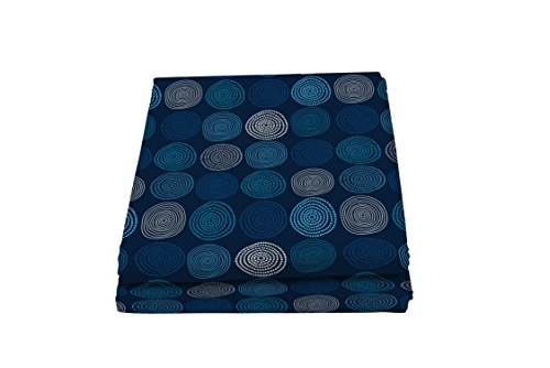 Italian Bed Linen Fantasy Ipnotic Telo Copritutto Stampato 2 Posti, Microfibra, Multicolore, 270 x 280 cm