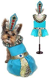 Puppe Love Cleopatra Dog Costumes - Dress Your Dogs as Jeweled Egyptian Princess Outfit(Size 4)