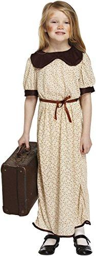 Kinder-Kostüm 'Flüchtling - 1./2. Weltkrieg' für Mädchen & Jungen - Faschingskostüm - Größen: EU 104-152 - EU 110, Mädchen