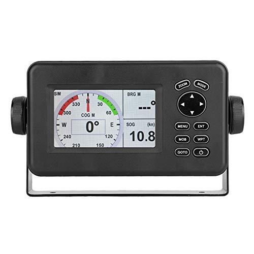 Simlug GPS Marinos, 4.3in Sistema de navegación para la marina, Color LCD Marine GPS Navigator Alarm Locator Class B AIS Transponder Combo