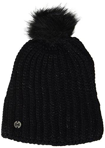 Buff Femme Knitted et Polar A Glen Bonnet Noir Chic, One Size