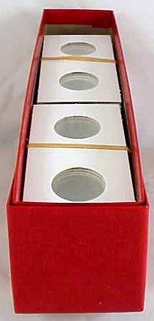 200 cardboard 2×2 coin holders for Cents with Box