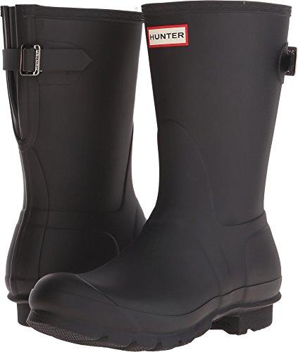 HUNTER Original Short Back Adjustable Rain Boots Black 8