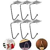GANAMODA 6 ganchos para bolsos para mesa, portable calcetín de Navidad, chimenea, fiesta, festival y regalos para mujeres y niñas