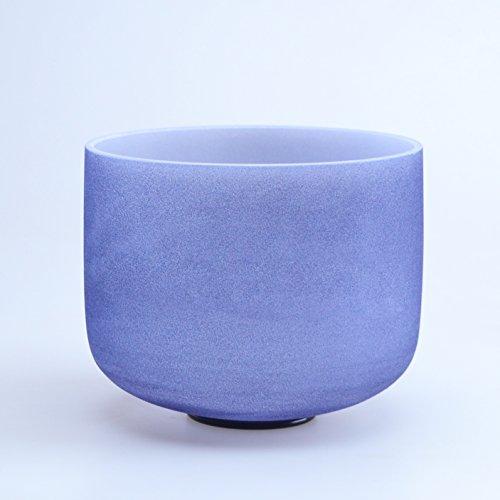 "440HZ 8"" A Third Eye Navy Blue Chakra Quartz Crystal Singing Bowl Indigo"