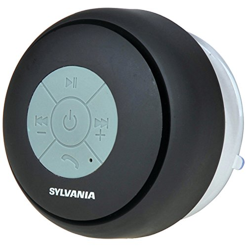 Sylvania SP230-Black Bluetooth Shower Speaker (Black)