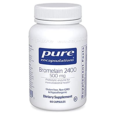 Pure Encapsulations - Bromelain 2400-500 mg Proteolytic Enzyme for Musculoskeletal Health - 60 Capsules