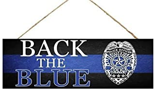 Craig Bachman Police Back The Blue Wooden Sign