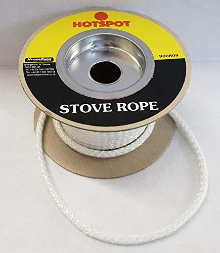 6mm Stove Rope/Gasket Seal for Flues Woodburner Stoves Door & Glass Fire Seals