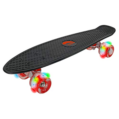 Best Sporting LED Skateboard für Kinder, ABEC 7 Kugellager, Retro-Look