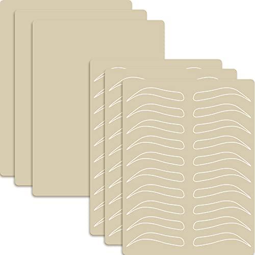 10pcs piel Práctica de Microblading en Forma de Ceja Completa Sin Necesidad de Tinta (10pcs)