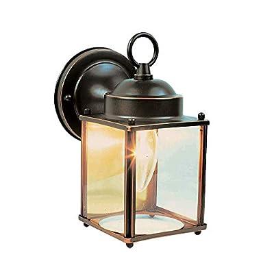 Design House 506576 Coach 1 Light Indoor/Outdoor Wall Light, Oil Rubbed Bronze