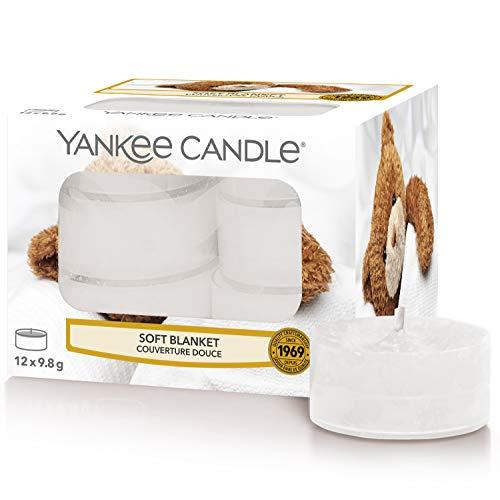 Yankee Candle Bougies Chauffe-Plat Parfumées | Couverture douce | Boîte de 12 Lumignons