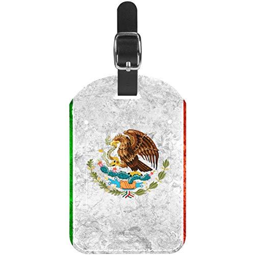 Etiquetas de Equipaje Bandera Mexicana Bandera en Cuero Vintage Maleta de Viaje Etiquetas 1 Paquetes