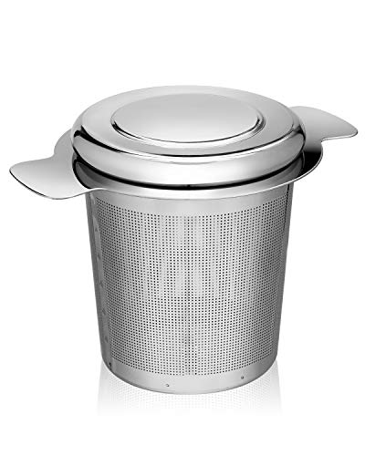Tea Infuser Large LISA ENJOYMENT Tea Ball Infuser Stainless Steel with Extra Fine Mesh Tea Strainer Ideal for Loose Tea Leaves, Herbel and Cold Brew Tea