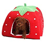 Demarkt–Atractivo jardín Bayas cálido Pet Nest perro, gato, caseta de cesta cesta Dormir Espacio Casa en cuatro colores