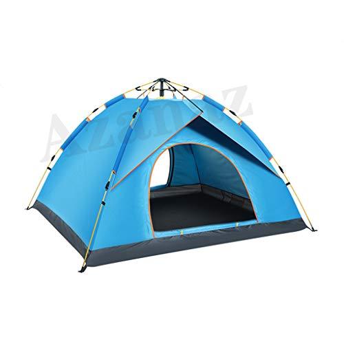 Azanaz Tente Automatique Tente Camping 3 Personnes 190T étanche Portable Tente de Plage Convient pour La Famille, Le Jardin, Le Camping, La Plage 200x150x125cm (6.5x4.9x4.1ft),Bleu