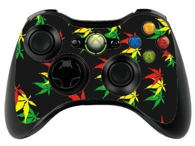 the grafix studio Weed Leaf Xbox 360 Remote Controller/Gamepad Skin / Vinyl Cover / Vinyl Xbr36 by the grafix studio