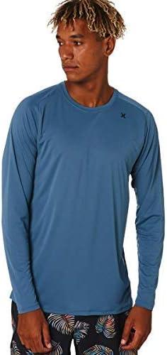 Hurley Men's Dri-fit Long Sleeve Sun Protection +50 UPF Rashguard Sunshirt