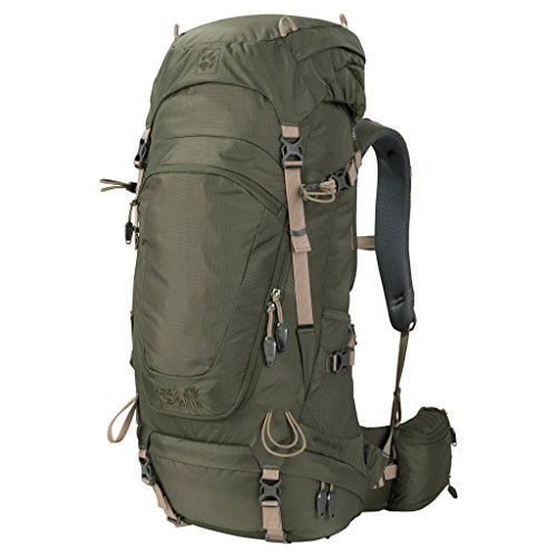 Jack Wolfskin Highland Trail 42 Wandern Outdoor Trekking Rucksack, Woodland Green, ONE Size