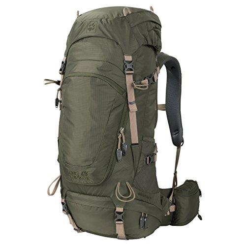 Jack Wolfskin Highland Trail 42 Wandern Outdoor Trekking Rucksack, Woodland Green, ONE Size